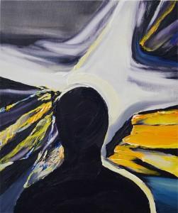 須永有「あなたの顔は、よく見える」72.7×60.6cm / oil on canvas